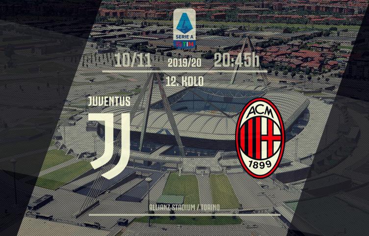 Serie A 2019/20 / 12. kolo / Juventus - Milan, nedelja, 20:45h