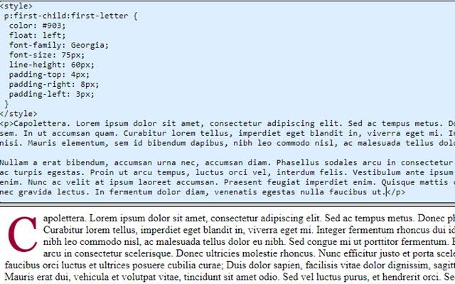 codice del capolettera