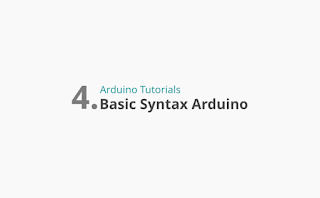 Basic Syntax in Arduino Programming