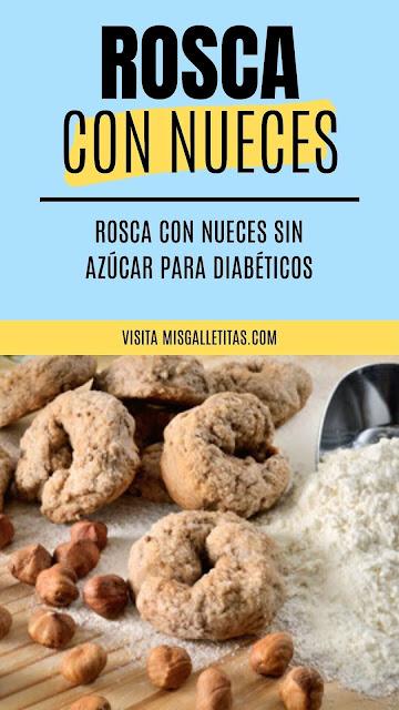 Rosquitas con nueces sin azúcar ¡Receta paso a paso!