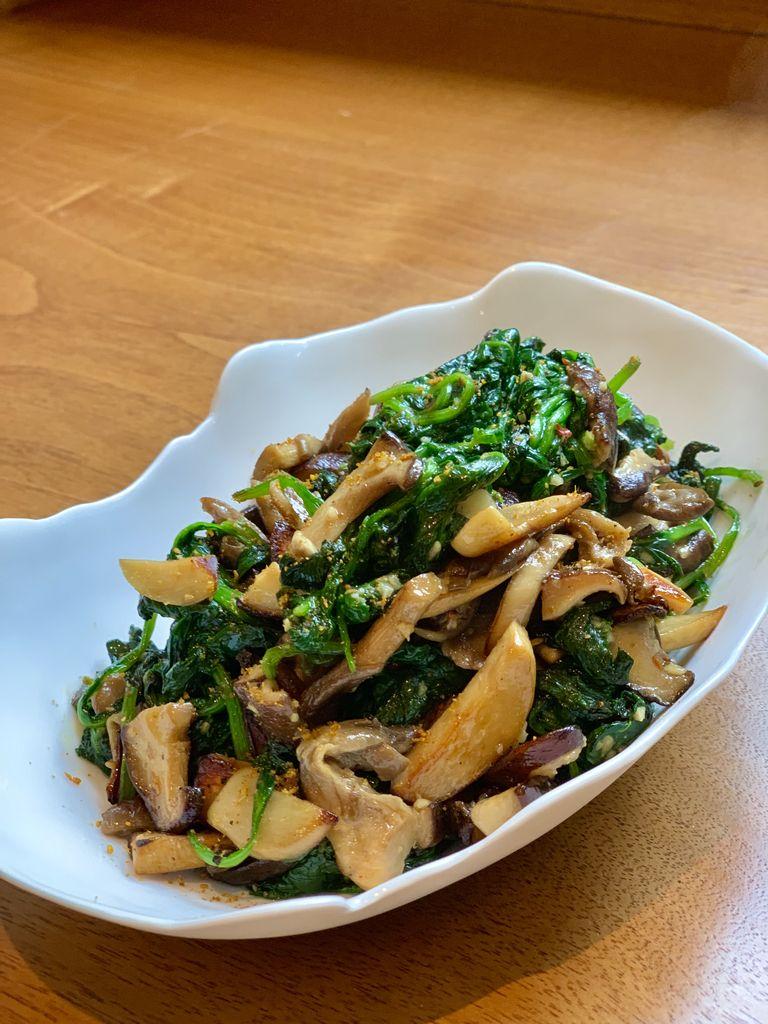 Wild Mushrooms & Baby Spinach Recipe