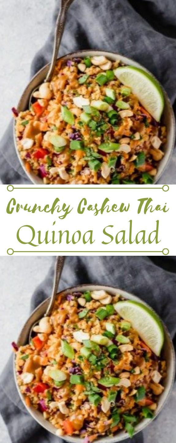 Famous Crunchy Cashew Thai Quinoa Salad  #salad #thai #salad #vegetarian #whole30