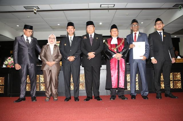 Sekda Hadiri Peresmian Pengangkatan Pimpinan DPRD Kota Palembang