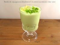 Batido de soja, aguacate, lima y limón, (un antienvejecimiento, sanote)
