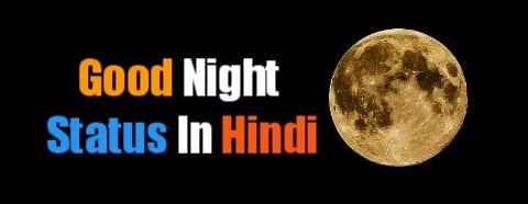 Best Good Night Status Shayari In Hindi - (शुभ रात्रि स्टेटस)