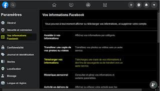télécharger vos informations Facebook