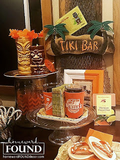 tiki bar, tikis, tiki culture, tiki hut, tropical decor, happy HULAdays, home decor, diy decor, holiday home decor, holiday, nativity