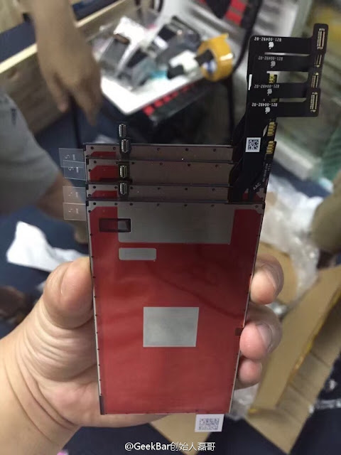 The new photos of assembled iPhone 7 front display panel have been leaked by Chinese repair shop GeekBar on social network site weibo who has also already shown the leaked image of A10 processor earlier for upcoming iPhone 7 and iPhone 7 Plus.