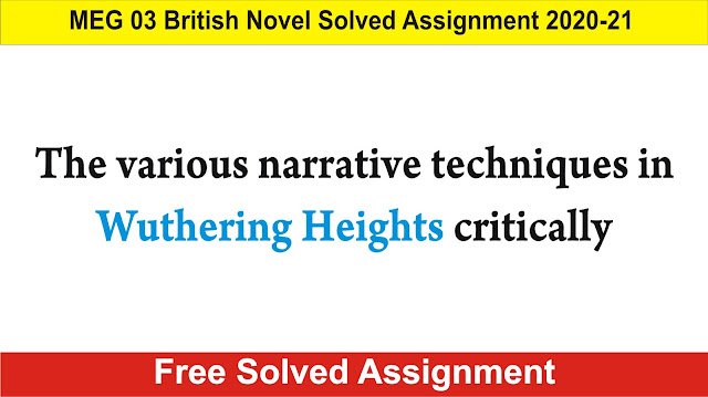 meg 03 british novel solved assignment 2020