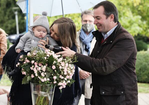 Hereditary Grand Duke Guillaume and Hereditary Princess Stephanie attended the baptism of a rose in honor of the birth of Prince Charles