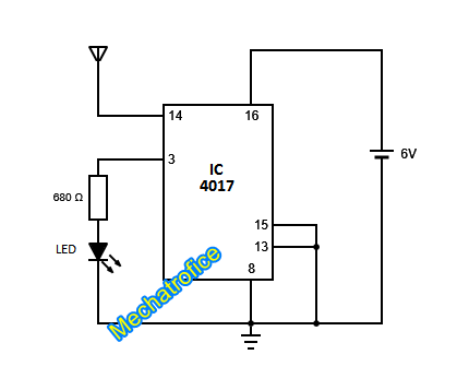Non contact+AC+Voltage+Detector+ac+line+detctor+IC+4017+ non contact ac voltage detector circuit mechatrofice live wire detector circuit diagram at panicattacktreatment.co