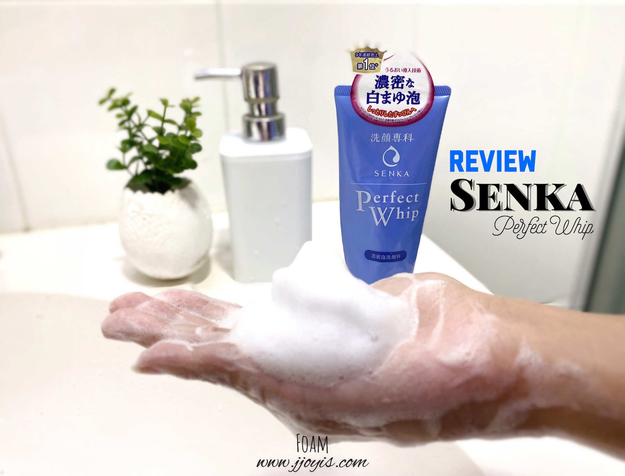 review senka perfect whip foam cleanser