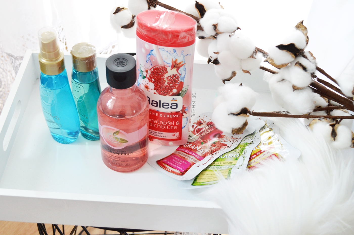 wakacyjne kosmetyki bath&body works, balea, oriflame