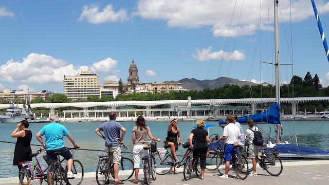 Muelle Uno city bike tour in a group