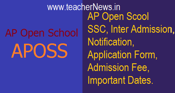 AP Open School (APOSS) SSC Inter Admission 2018 Notification Details @apopenschool.org