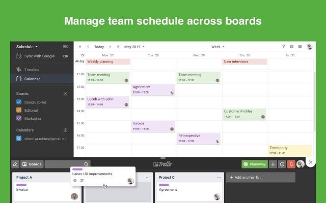 Planyway: Calendário para o Trello