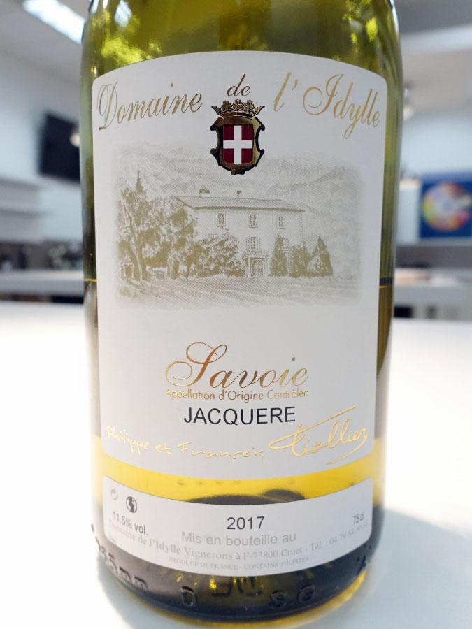 Domaine de l'Ldylle Jacquère Savoie 2017 (89 pts)