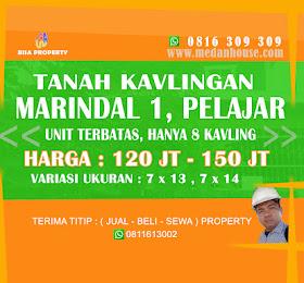 DIJUAL TANAH KAVLINGAN MURAH DI MARINDAL 1 <del>Rp 150 Jt </del> <price>Rp. 120 Jt </price> <code>tanahkavlingmarindal1</code>