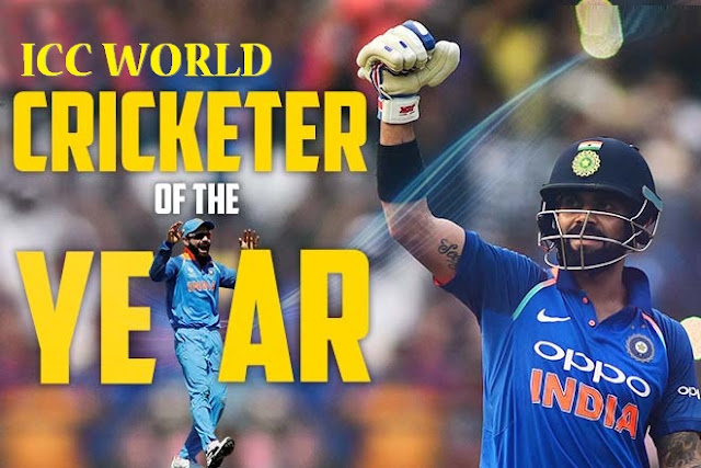 Virat Kohli named ICC World Cricketer of the Year