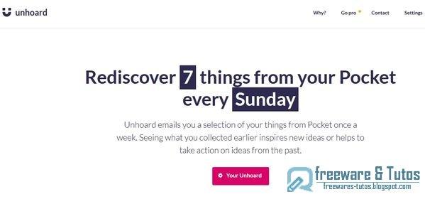 Unhoard : redécouvrez des articles de votre Pocket chaque semaine