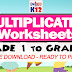 MULTIPLICATION WORKSHEETS for Grade 1 to Grade 6 (Free Download)