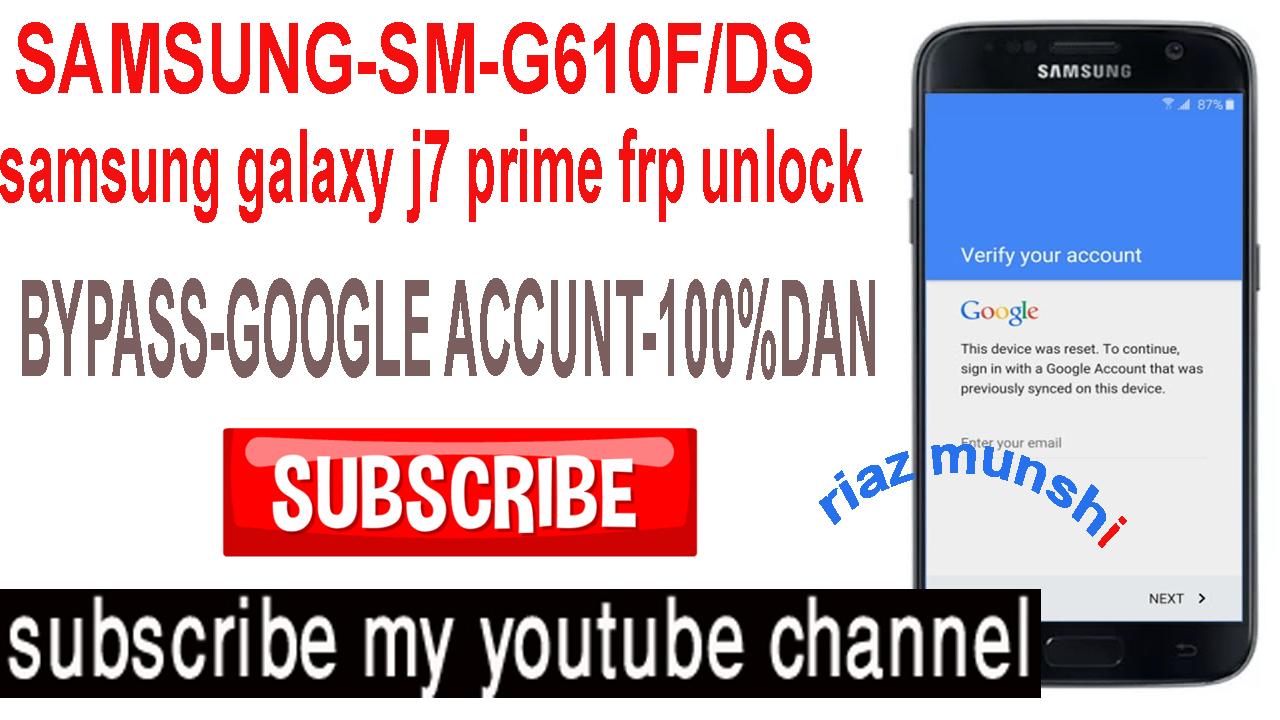 samsung galaxy j7 prime frp unlock - powerstation