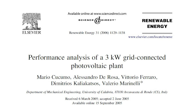 Performance analysis of a 3 kW grid-connected photovoltaic plant