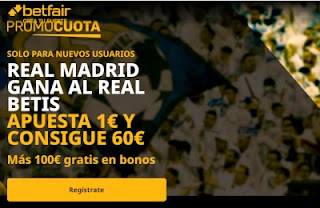 betfair supercuota Betis v Real Madrid 26-9-2020