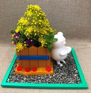 3d printing Teddy bear planter pot