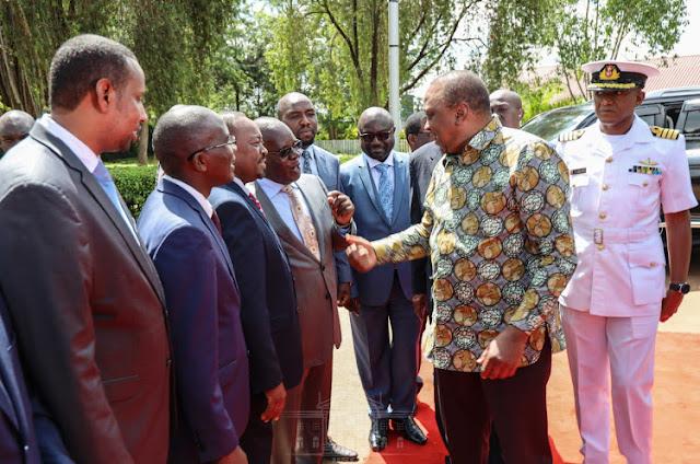 President Uhuru Kenyatta at Bomas of Kenya. PHOTO | BNC