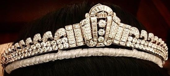 diamond art deco tiara pahang malaysia queen azizah