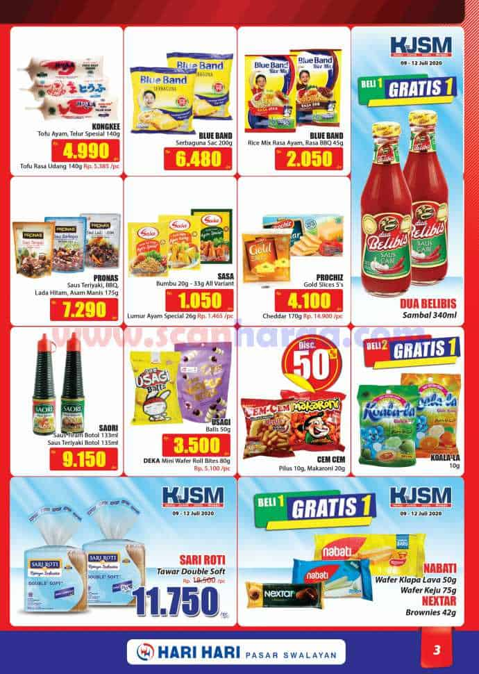 Katalog Promo Hari Hari Pasar Swalayan 9 - 22 Juli 2020 3