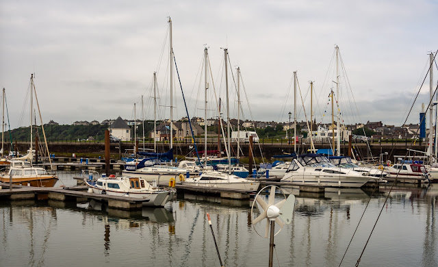 Photo of a cloudy day at Maryport Marina on Monday