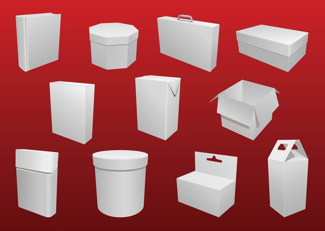 cylinder packaging template - 40 packaging box vector art graphics