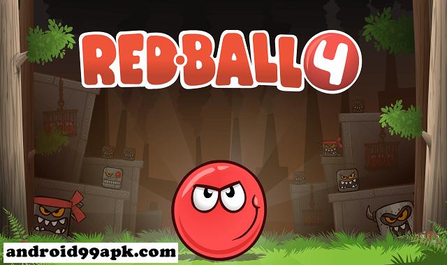 لعبة Red Ball 4 v1.4.21 مهكرة بحجم 52 ميجابايت للأندرويد