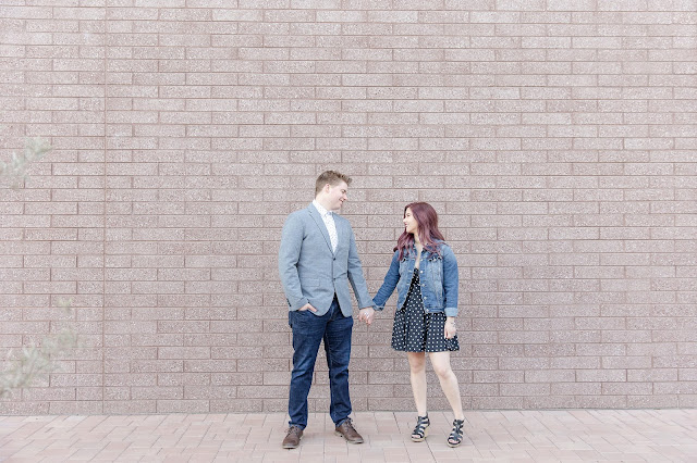 downtown sunrise engagement session