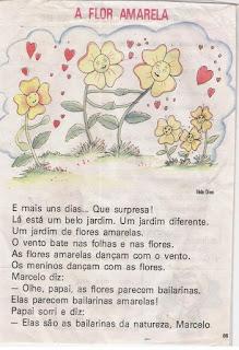 Leitura a flor amarela