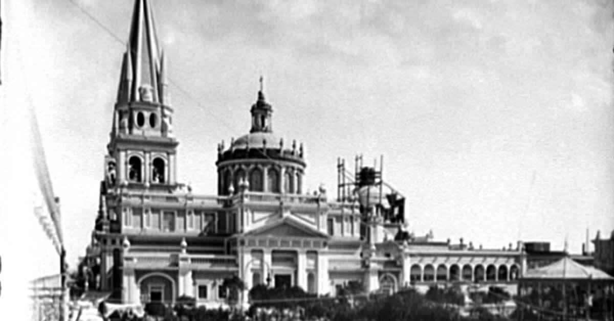 La catedral de Guadalajara fotografia antigua