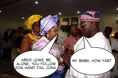 Check out the hilarious fictitious conversation between Patience Jonathan and Olusegun Obasanjo