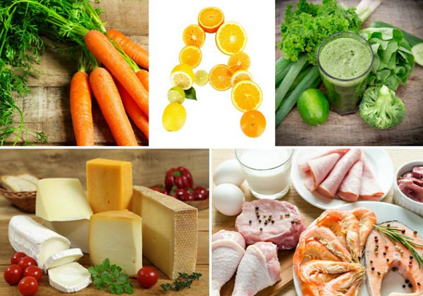 What foods contain vitamin A ?