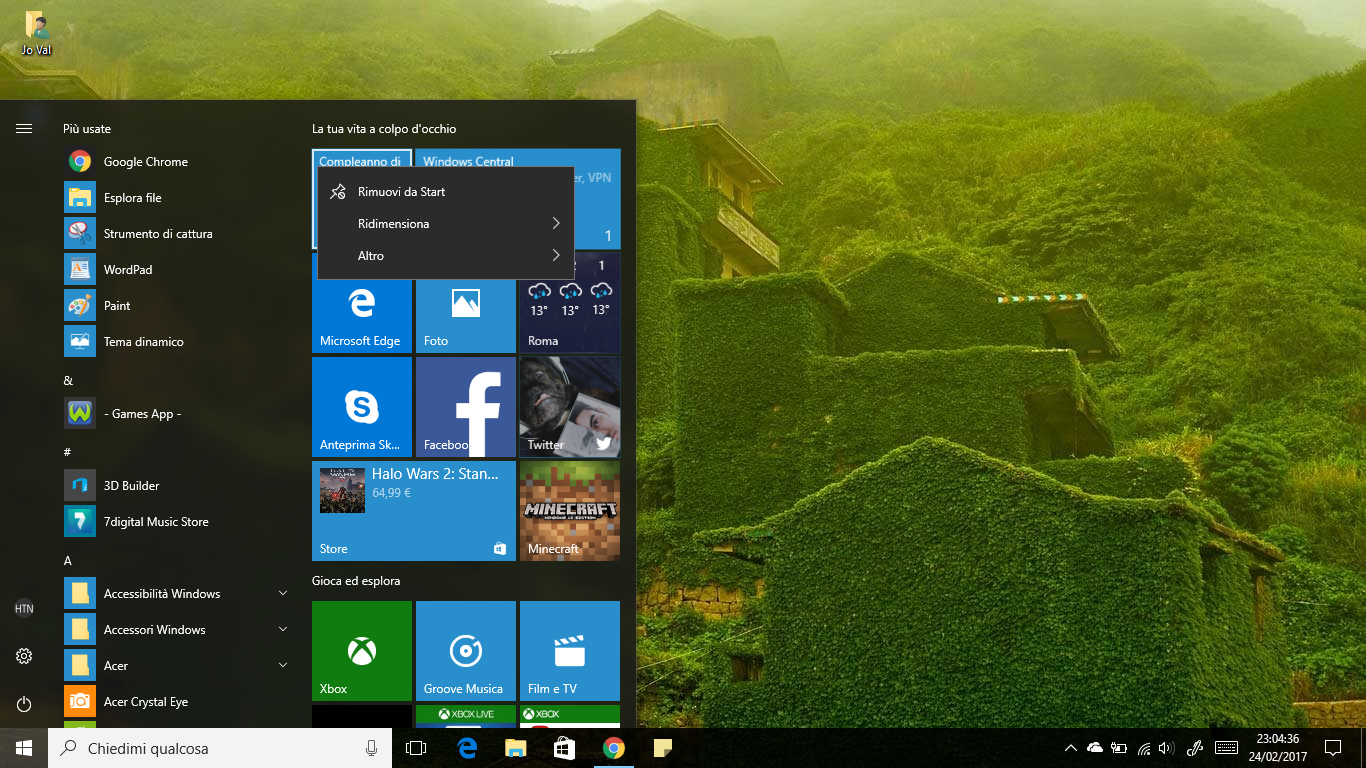 Come eliminare l'opzione 'Disinstalla' dal Menu Start di Windows 10 HTNovo