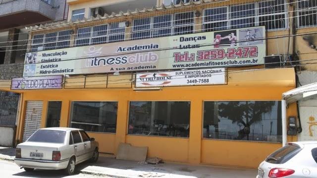 Fachada da academia Fitness Club. Foto: Lucas Figueiredo / Extra