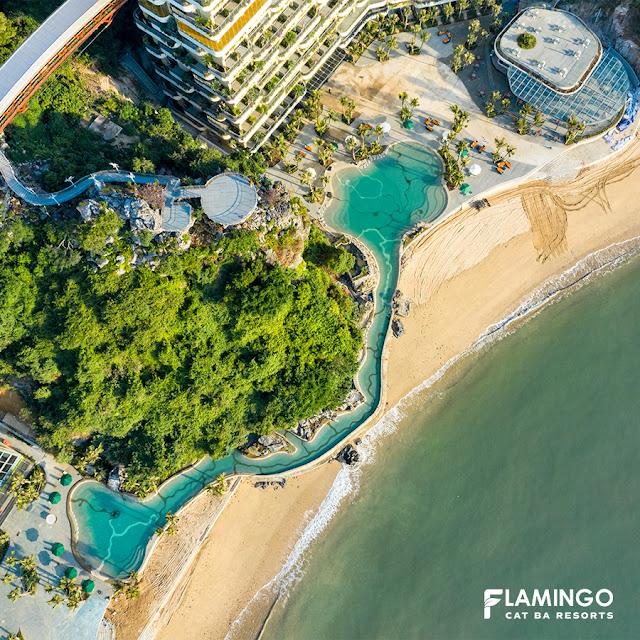 bể bơi flamingo cát bà