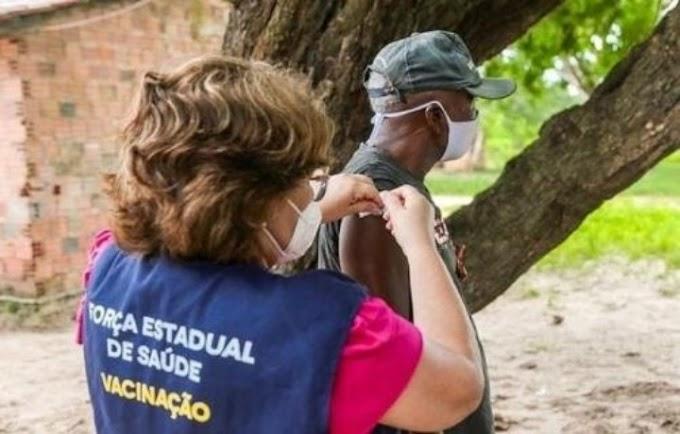 Alcântara, no Maranhão, é a 1ª cidade 100% vacinada contra a Covid-19, diz governador Flávio Dino