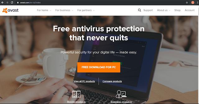 Antivirus Gratis Terbaik Yang Ringan Untuk Laptop - Avast Antivirus