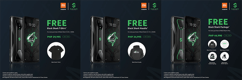 Black Shark 3 and 3 Pro price tags in PH