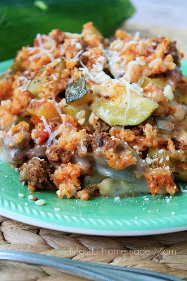 Crockpot Italian Zucchini Casserole #casserole #dietketo