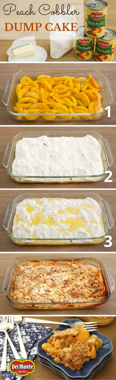 Choice Morsels Good Eating Monday Peach Cobbler Dump Cake