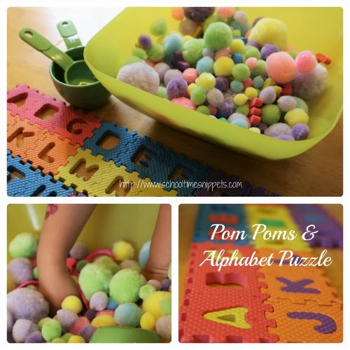 Sensory Bin Ideas Using Pom Poms