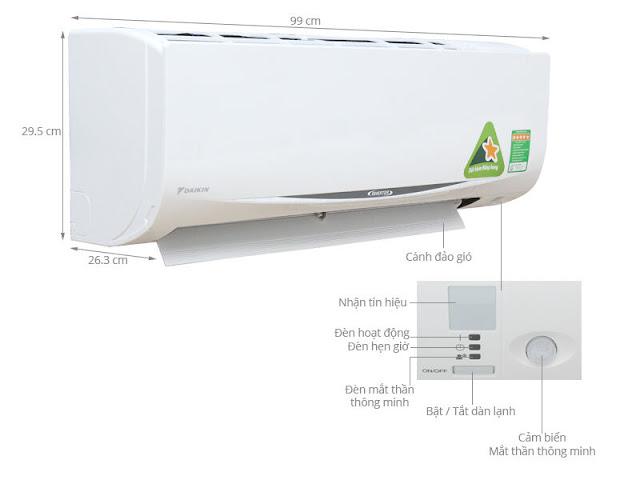 Điều hòa Daikin Inverter FTKC60UAVMV1 chiều